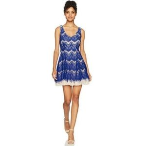 B. Darlin Blue Lace Tulle Dress Size 1/2